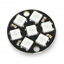 Ring LED RGB 7 x WS2812 5050