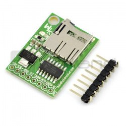 Miniature microSD card reader with buffer and stabilizer - MOD-13