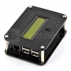 Raspberry Pi B+ housing and PiFace Control & Display 2 module - black