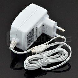 MicroUSB 5V 2A Raspberry Pi power supply - original T5454DV - white