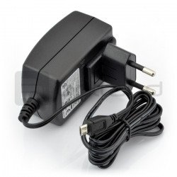 MicroUSB 5V 2A Raspberry Pi power supply - original T5582DV - black