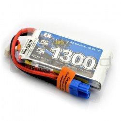LiPol Dualsky 1300mAh 35C 2S 7.4V package