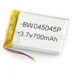 Li-Poly battery 700 mAh 3.7V 3.9Wh