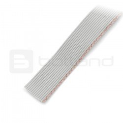 Stranded cable 14 conductors gray (50 cm) IDC raster 1.27 mm
