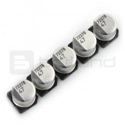 Electrolytic capacitor 47uF/16V SMD - 5 pcs.
