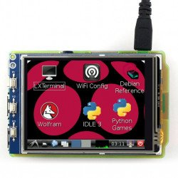"TFT 3.2"" 320x240px GPIO resistance LCD touch screen for Raspberry Pi 2/B+"