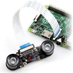 Waveshare Camera HD Night Vision E OV5647 5Mpx - for Raspberry Pi + IR modules_