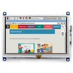 "TFT 5"" 800x480px HDMI + USB touch screen for Raspberry Pi 2/B+"