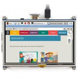 "Resistive touch screen TFT LCD 5"" HDMI 800x480px + GPIO for Raspberry Pi 2/B+"