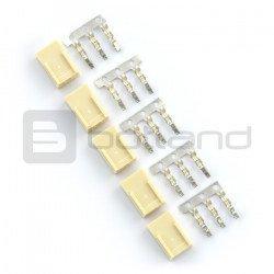Connector type xxx - 3x1 socket + pins - 5 pcs.