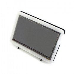 """Touch screen capacitive LCD TFT screen 7"""" 1024x600px HDMI + USB for Raspberry Pi 2/B+ + case black and white"""