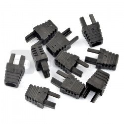 Bend for cable RJ45 8P8C - black - 10pcs.
