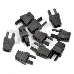 Bend for cable RJ45 8P8C - black - 10pcs.