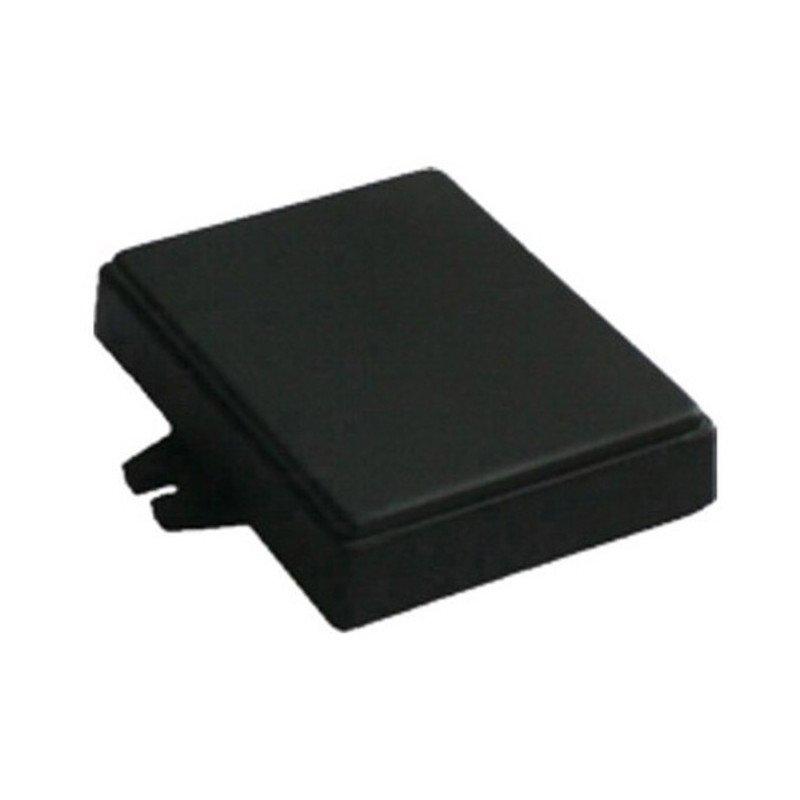 Plastic housing Kradex Z71U - 76x59x18mm black with ears