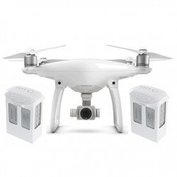 DJI Phantom 4 quadrocopter drone with 3D gimbal and 4k UHD camera + two additional batteries