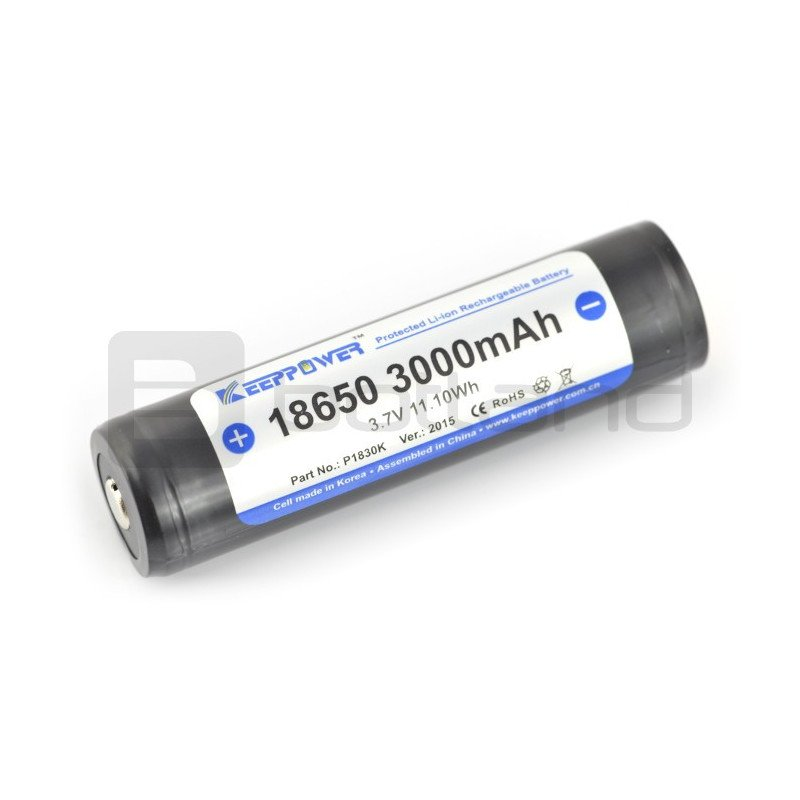 18650 Li-Ion KeepPower 3000mAh with protection