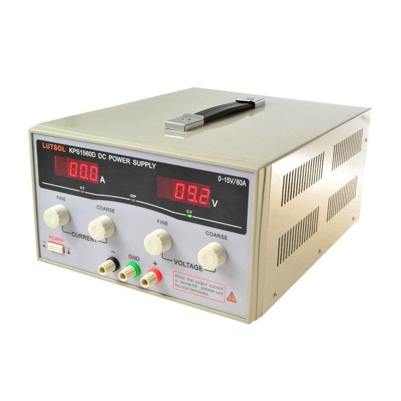 LUTSOL laboratory power supply KPS1560D 0-15V 60A