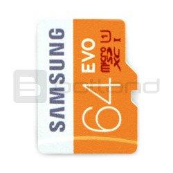 Memory card Samsung EVO micro SD / SDHC 64GB 320x UHS-I class 10
