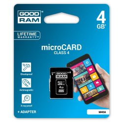 Goodram micro SD / SDHC 4GB class 4GB memory card with adapter
