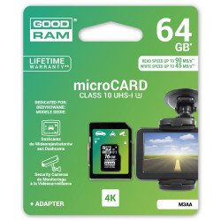 Goodram micro SD / SDXC 64GB 4K UHS-I Class 10 memory card with adapter