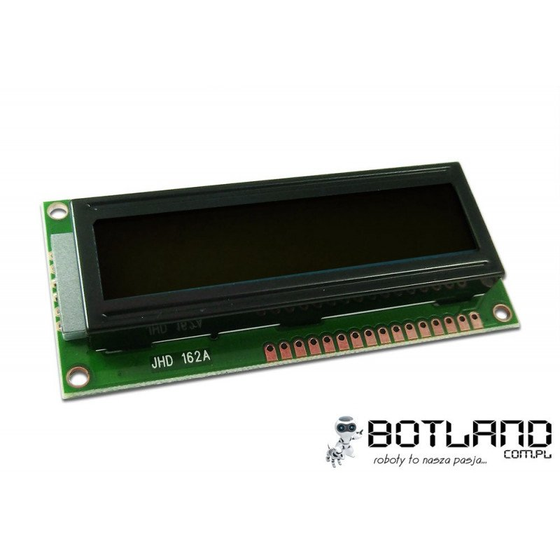 LCD display 2x16 characters black and white