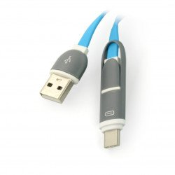 Kabel USB-C + Micro USB 2w1