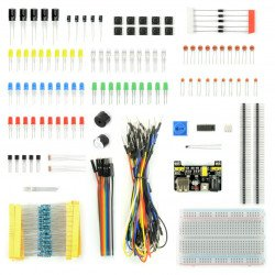 A set of electronic components - E24 - 235 items - not only for Arduino