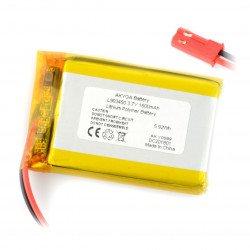 Battery Li-Pol Akyga 1600mAh 1S 3.7V - JST-BEC connector + socket