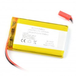 Li-Pol Akyga 1350mAh 1S 3.7V Li-Pol Akyga battery - JST-BEC connector + socket