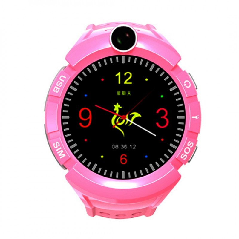 Watch Phone Kids with GPS/WIFI Locator - Pink