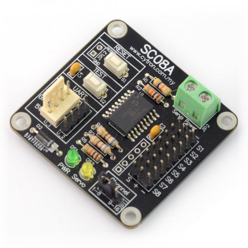 Cytron SC08A - 8 channel servo controller, UART