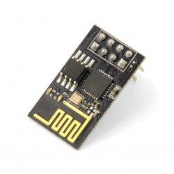 WiFi module ESP-01 ESP8266 Black - 3 GPIO, 1MB, PCB antenna