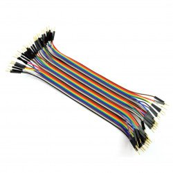 Connecting cables male-to-male 20cm - 40pcs