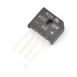 Bridge rectifier KBU10M - 1000 V / 10A - flat -5 pieces