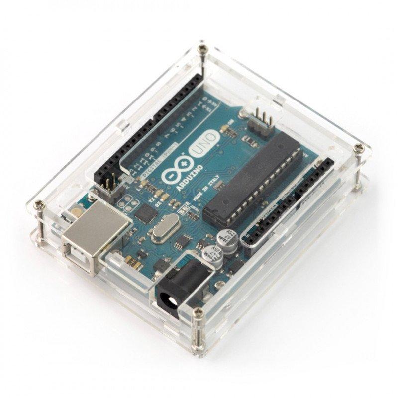 Housing for Arduino Uno - transparent slim v2