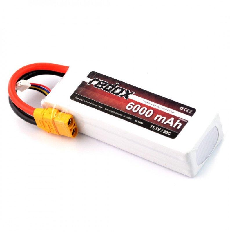 Li-Pol Redox 6000mAh 30C 3S 11.1V package