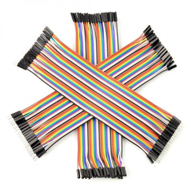 Set of connecting wires 20 cm 3 x 40pcs. m-m-s, m-s (120szt.)