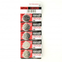 Maxell battery CR2430 3V - 5 pieces