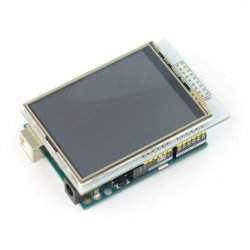 """Display touch TFT LCD screen of 2.8"""" 320x240px with microSD - pad on the Arduino"""