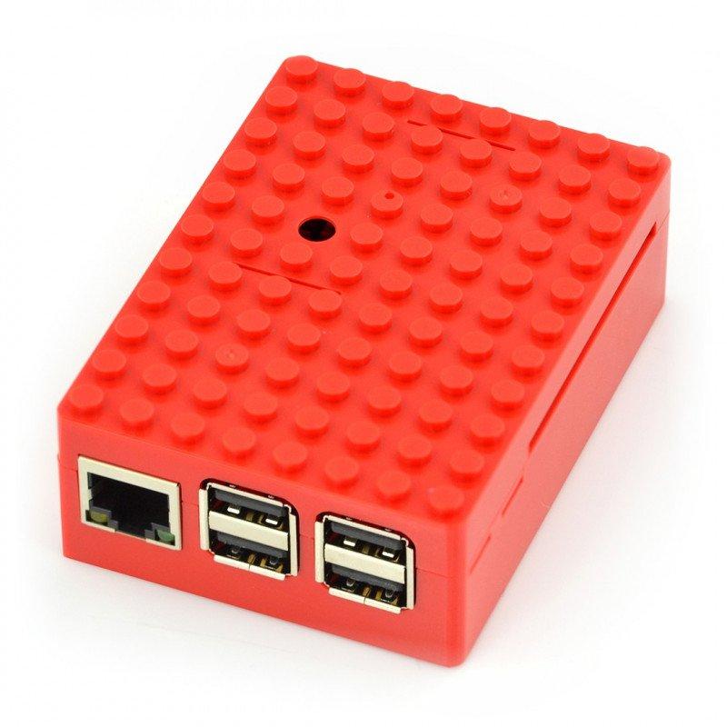 Pi-Blox - Raspberry Pi Model 3/2/B+ enclosure - red