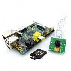 Raspberry Pi Model B 512 MB + card + HD camera