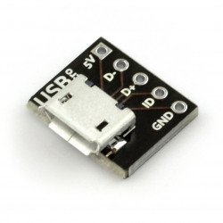MicroUSB type B 5 pin - connector for breadboard - MSX