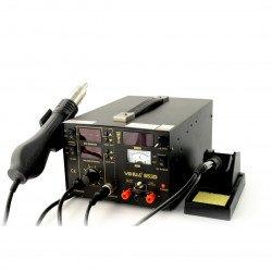 Stacja lutownicza HotAir + Kolbowa YIHUA 853D 800W 100-480 C+zasilacz 1A 0-15 V RF