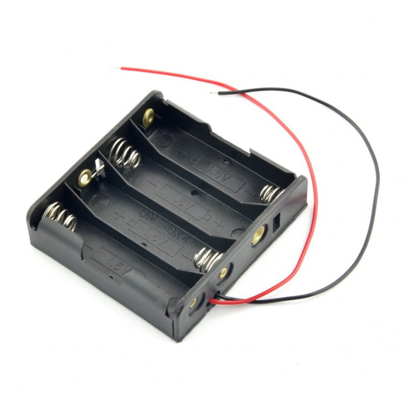 Basket for 4 AA (R6) type batteries