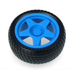 Wheel with tyre 65x26mm - blue