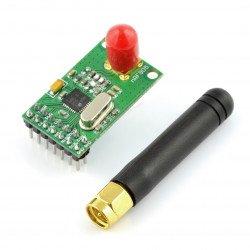 nRF905 433 / 898 / 915 MHz radio module - THT transceiver with antenna