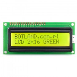 LCD display 2x16 characters, green