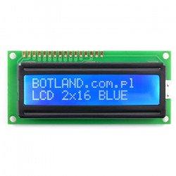 Wyświetlacz LCD 2x16 znaków niebieski