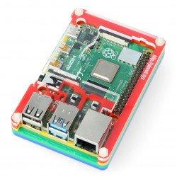 Raspberry Pi Model 4B Pibow Coupé 4 - Rainbow