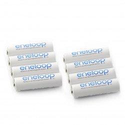 Rechargeable Panasonic Eneloop R6 AA Ni-MH 2000mAh battery - 8 pcs.